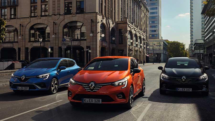 Viele verschiedene Modelle von Renault im Abo